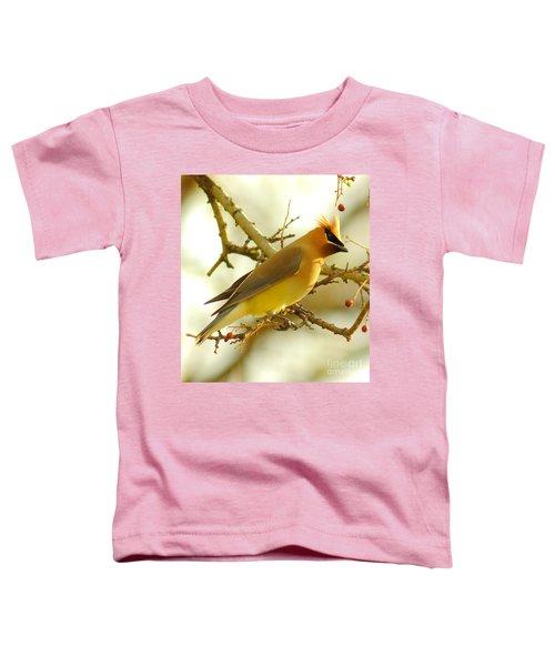 Cedar Waxwing Toddler T-Shirt by Robert Frederick