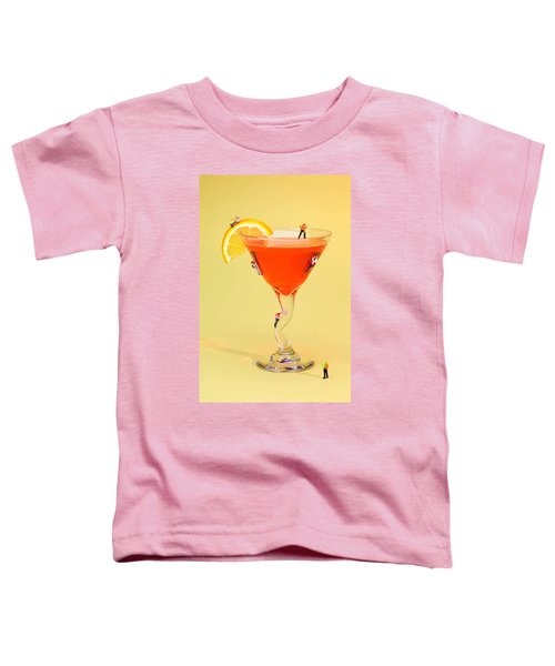 Climbing On Red Wine Cup Toddler T-Shirt by Paul Ge