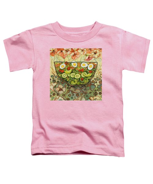 Cool Summer Salad Toddler T-Shirt by Jen Norton
