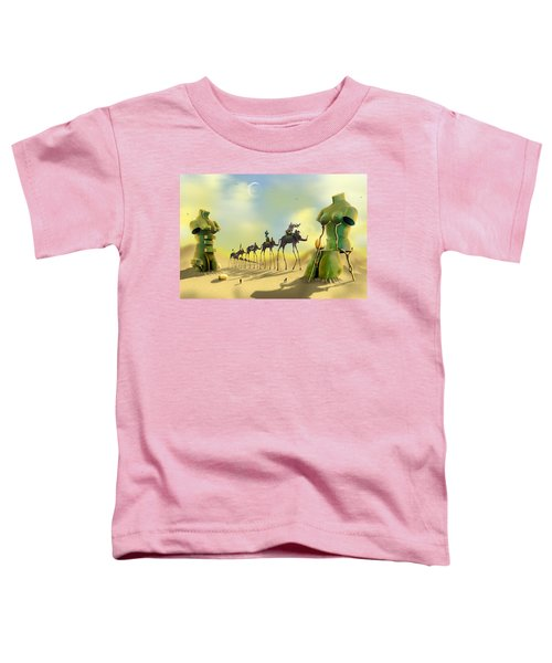 Dali On The Move  Toddler T-Shirt by Mike McGlothlen