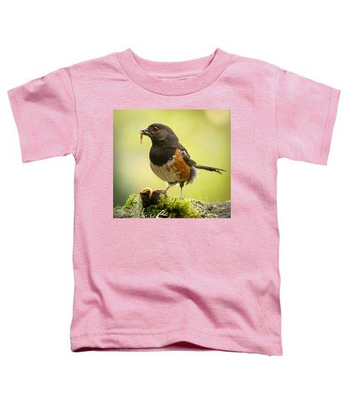 Dangling Worm. Toddler T-Shirt by Jean Noren