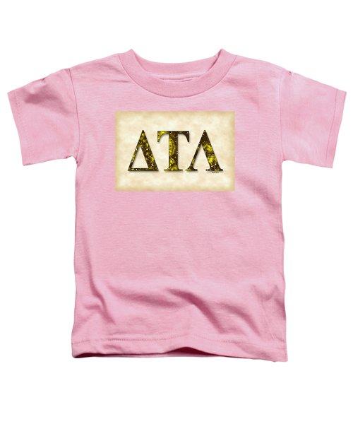 Delta Tau Lambda - Parchment Toddler T-Shirt by Stephen Younts
