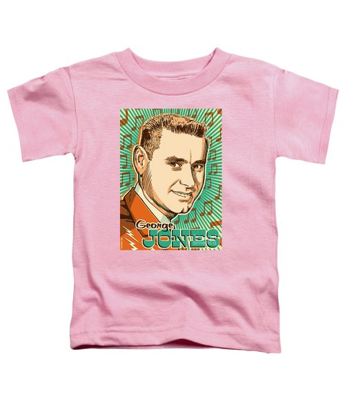 George Jones Pop Art Toddler T-Shirt by Jim Zahniser