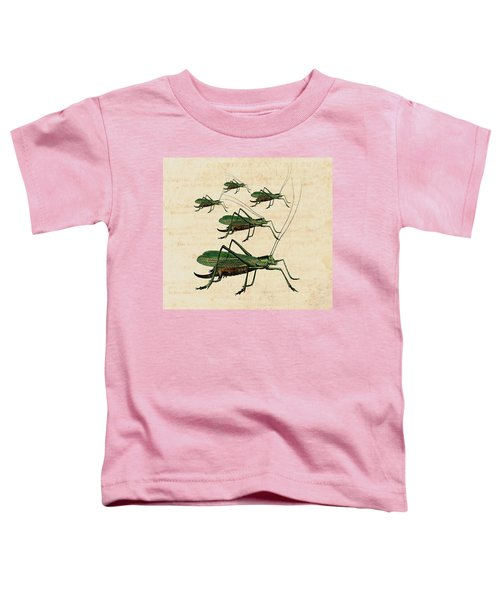 Grasshopper Parade Toddler T-Shirt by Antique Images