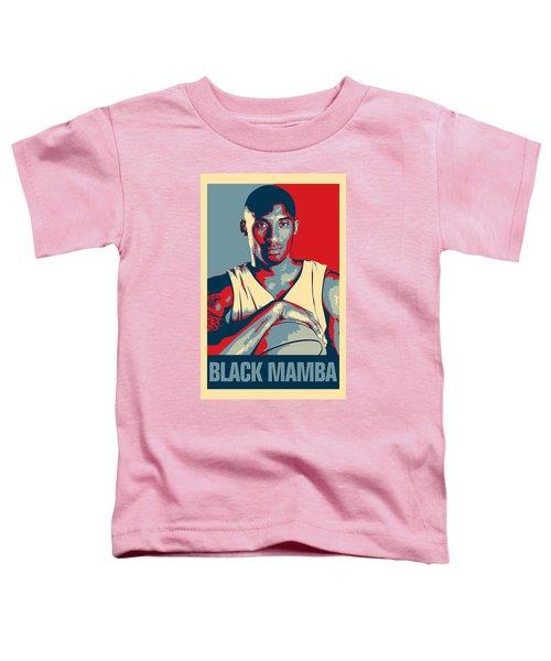 Kobe Bryant Toddler T-Shirt by Taylan Apukovska