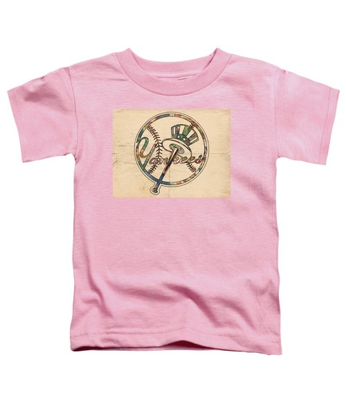 New York Yankees Poster Vintage Toddler T-Shirt by Florian Rodarte