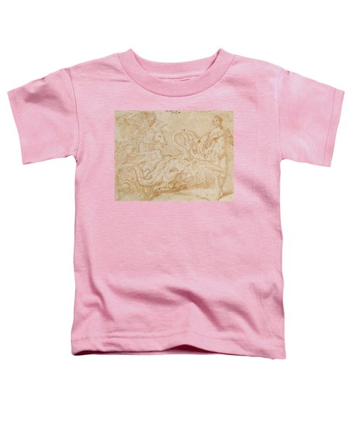 Perseus Rescuing Andromeda Red Chalk On Paper Toddler T-Shirt by or Zuccaro, Federico Zuccari