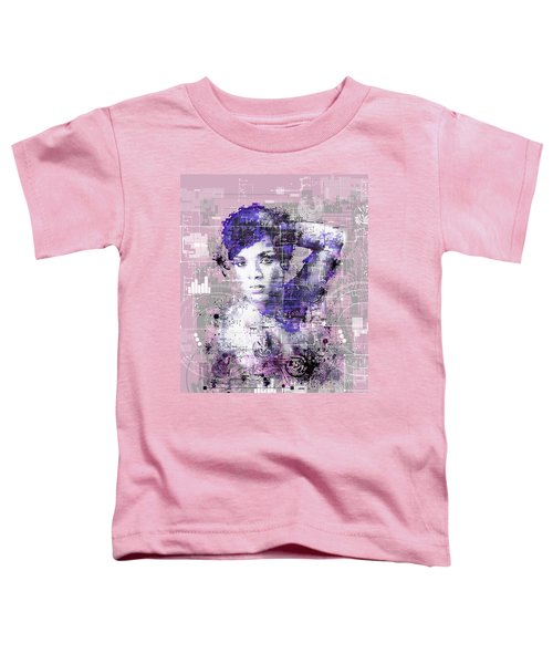 Rihanna 3 Toddler T-Shirt by Bekim Art