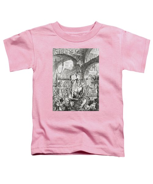The Man On The Rack Plate II From Carceri D'invenzione Toddler T-Shirt by Giovanni Battista Piranesi