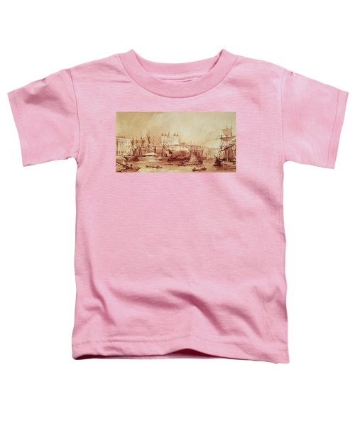 View Of The Tower Of London Toddler T-Shirt by William Parrott