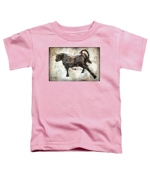 Wild Raging Bull Toddler T-Shirt by Daniel Hagerman