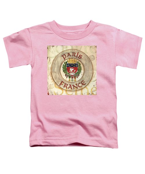 French Coat Of Arms Toddler T-Shirt by Debbie DeWitt
