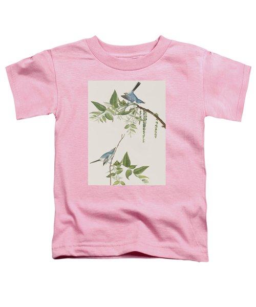 Blue Grey Flycatcher Toddler T-Shirt by John James Audubon