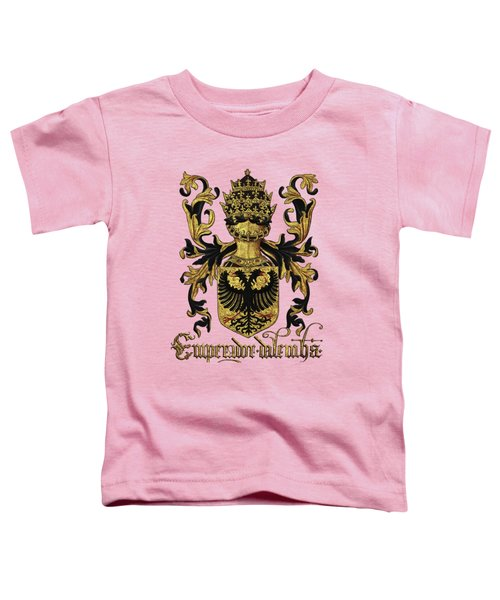 Emperor Of Germany Coat Of Arms - Livro Do Armeiro-mor Toddler T-Shirt by Serge Averbukh