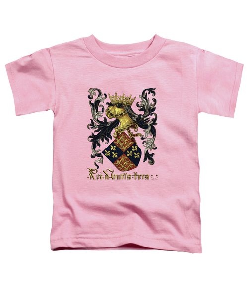 King Of England Coat Of Arms - Livro Do Armeiro-mor Toddler T-Shirt by Serge Averbukh
