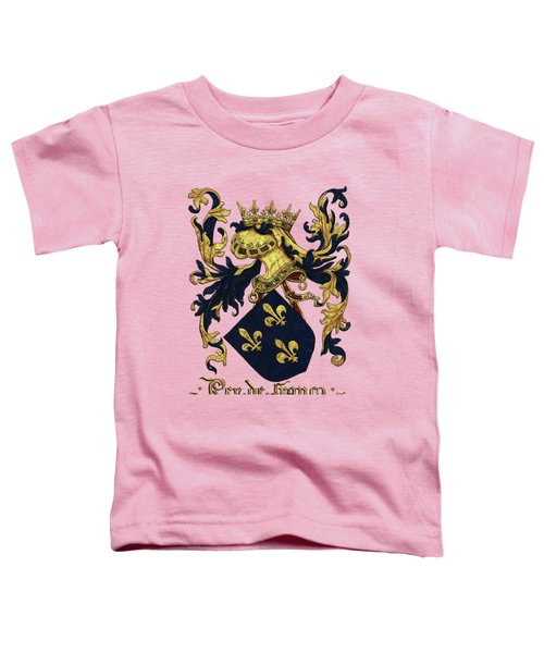 King Of France Coat Of Arms - Livro Do Armeiro-mor  Toddler T-Shirt by Serge Averbukh