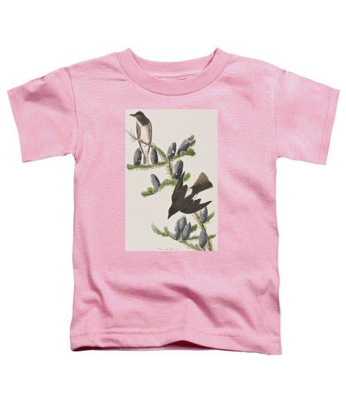 Olive Sided Flycatcher Toddler T-Shirt by John James Audubon