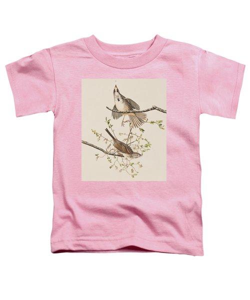 Song Sparrow Toddler T-Shirt by John James Audubon