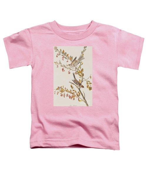 Tree Sparrow Toddler T-Shirt by John James Audubon