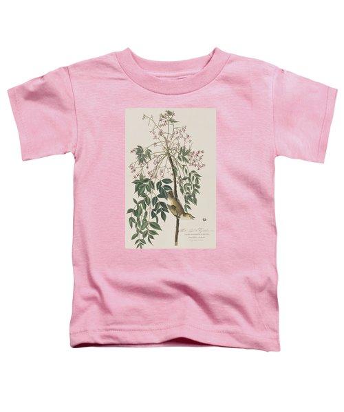 White-eyed Flycatcher Toddler T-Shirt by John James Audubon