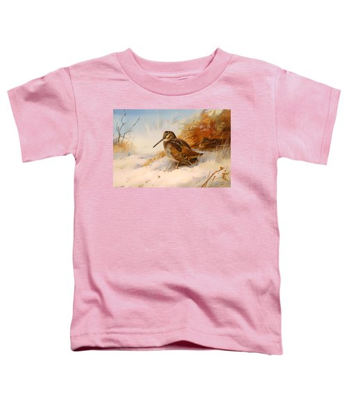 Winter Woodcock Toddler T-Shirt by Mountain Dreams