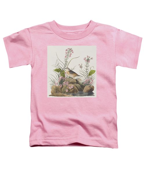 Yellow-winged Sparrow Toddler T-Shirt by John James Audubon