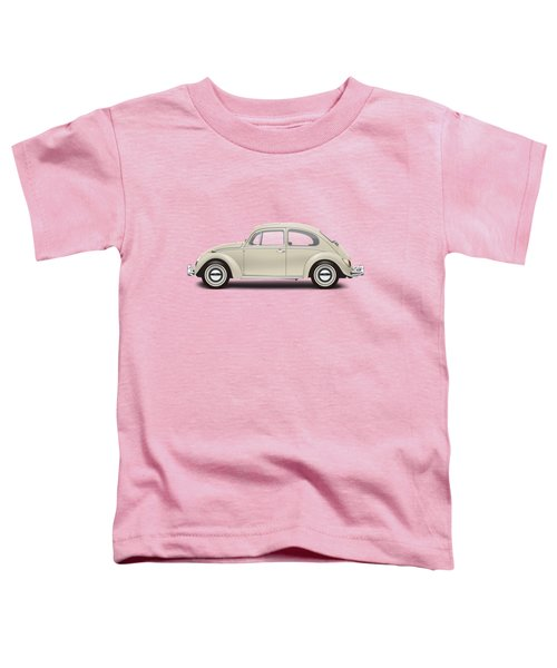 1965 Volkswagen 1200 Deluxe Sedan - Panama Beige Toddler T-Shirt by Ed Jackson