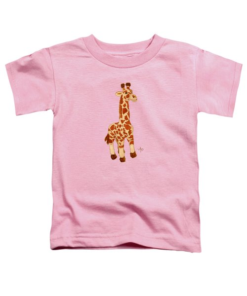 Cuddly Giraffe Toddler T-Shirt by Angeles M Pomata