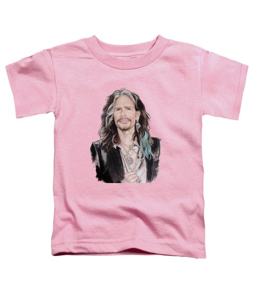 Steven Tyler  Toddler T-Shirt by Melanie D
