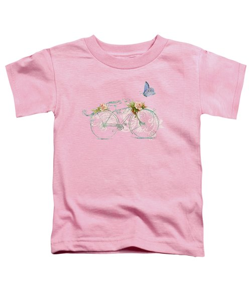 Summer At Cape May - Bicycle Toddler T-Shirt by Audrey Jeanne Roberts