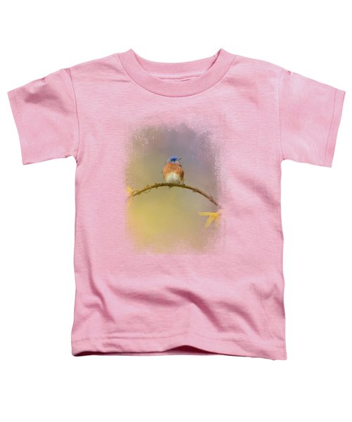 A Little Blue In The Garden Toddler T-Shirt by Jai Johnson
