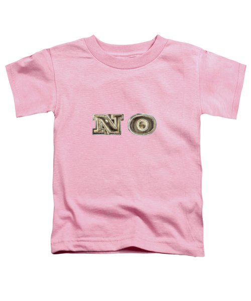 A Simple No Toddler T-Shirt by YoPedro