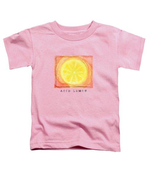 Acid Lemon Toddler T-Shirt by Kathleen Wong