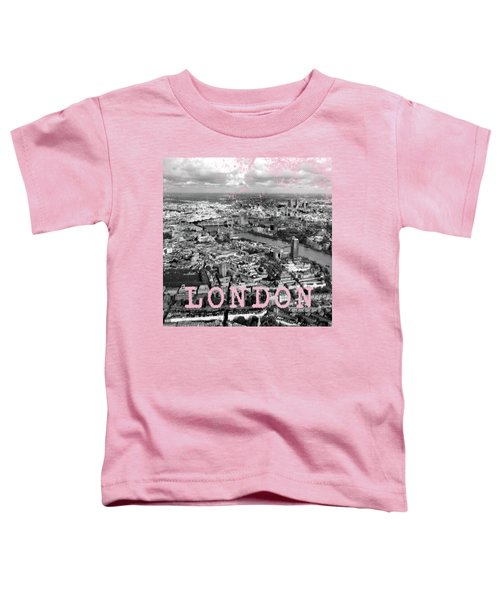 Aerial View Of London Toddler T-Shirt by Mark Rogan