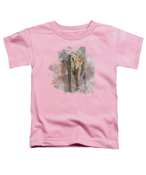African Elephant - Transparent Toddler T-Shirt by Nikolyn McDonald