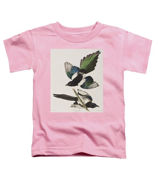 American Magpie Toddler T-Shirt by John James Audubon