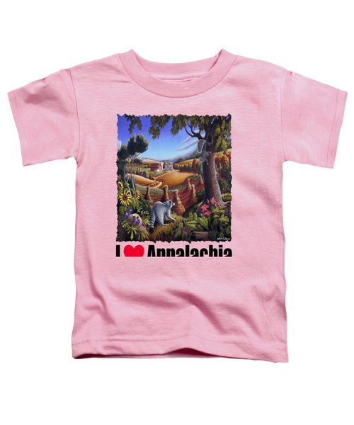 Amish Country - Coon Gap Holler Country Farm Landscape Toddler T-Shirt by Walt Curlee