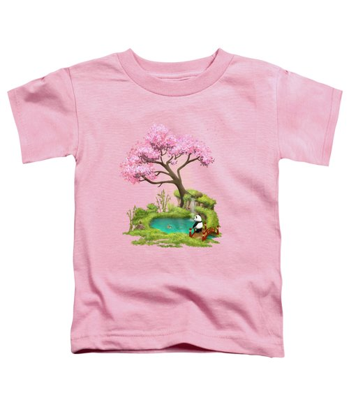 Anjing II - The Zen Garden Toddler T-Shirt by Carlos M R Alves