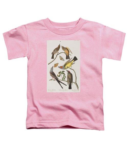 Arkansaw Flycatcher Swallow-tailed Flycatcher Says Flycatcher Toddler T-Shirt by John James Audubon