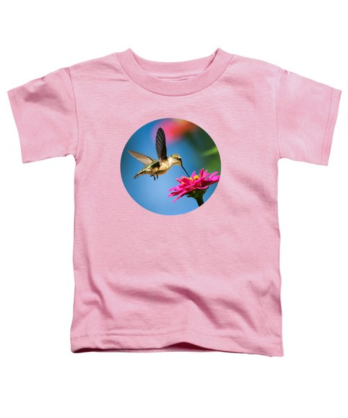 Art Of Hummingbird Flight Toddler T-Shirt by Christina Rollo