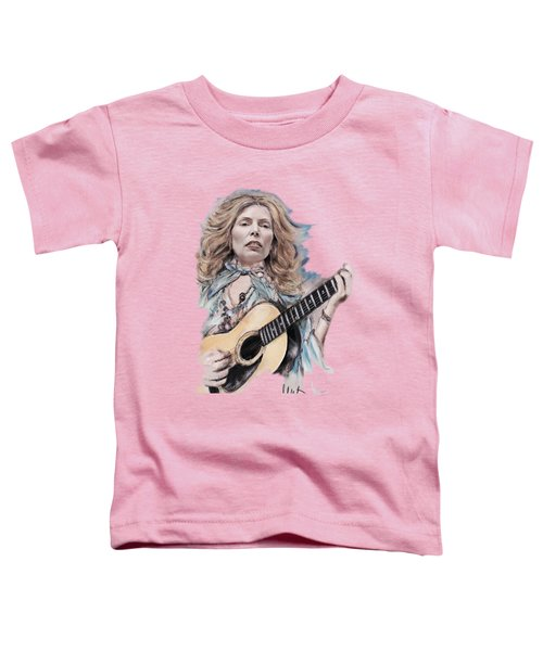 Joni Mitchell Toddler T-Shirt by Melanie D