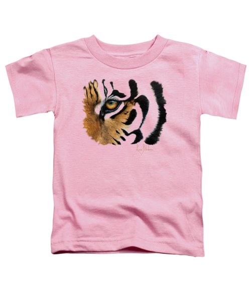 Tiger Eye Toddler T-Shirt by Lucie Bilodeau