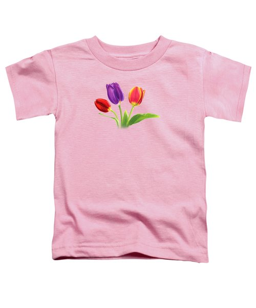 Tulip Trio Toddler T-Shirt by Sarah Batalka