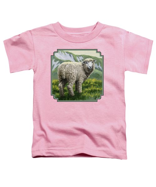 Highland Ewe Toddler T-Shirt by Crista Forest