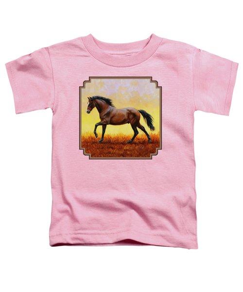 Midnight Sun Toddler T-Shirt by Crista Forest