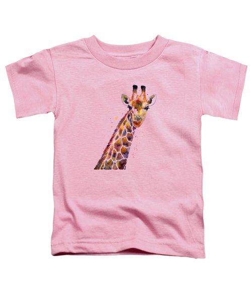 Giraffe Toddler T-Shirt by Hailey E Herrera