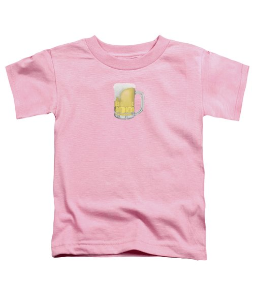 Beer Toddler T-Shirt by Priscilla Wolfe