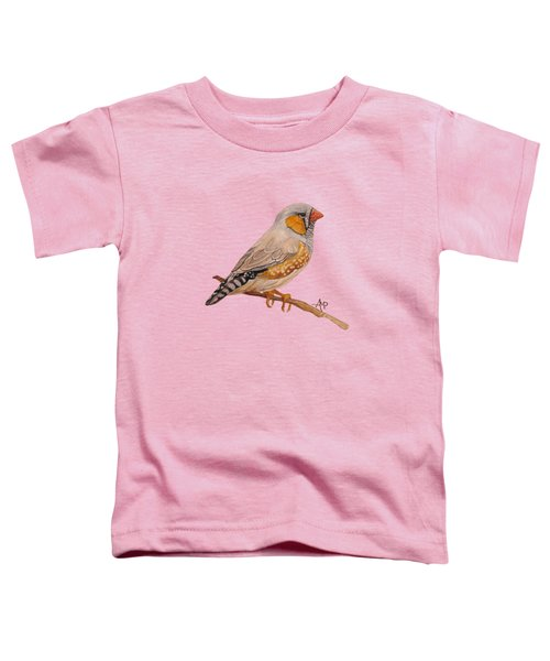 Zebra Finch Toddler T-Shirt by Angeles M Pomata