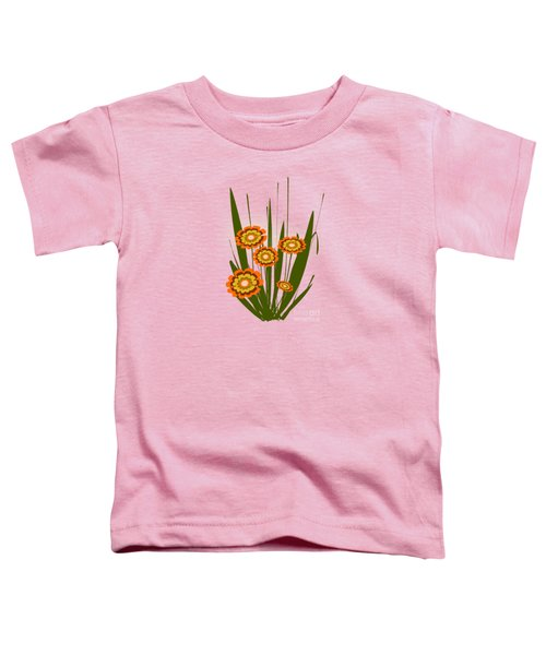 Orange Flowers Toddler T-Shirt by Anastasiya Malakhova