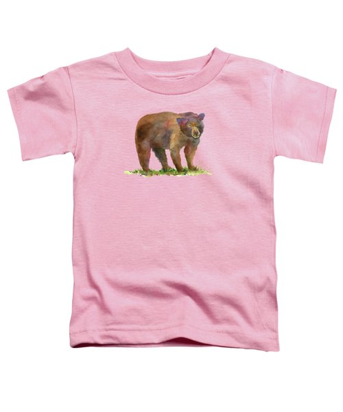 Bear Toddler T-Shirt by Amy Kirkpatrick